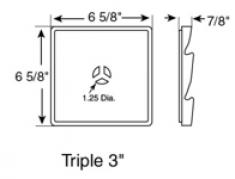 блок triple 7,62см , код 030503***, цвет любой
