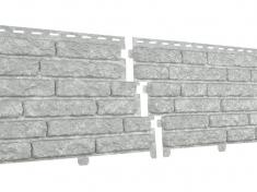 Фасадные панели Ю-Пласт Стоун-хаус Кварцит Светло-Серый
