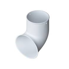 Слив трубы 67 градусов для водосточной системы белый