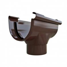 Воронка для водосточной системы коричневая